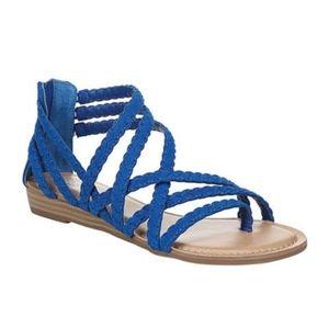Carlos Santana Blue braided strappy sandal 7.5